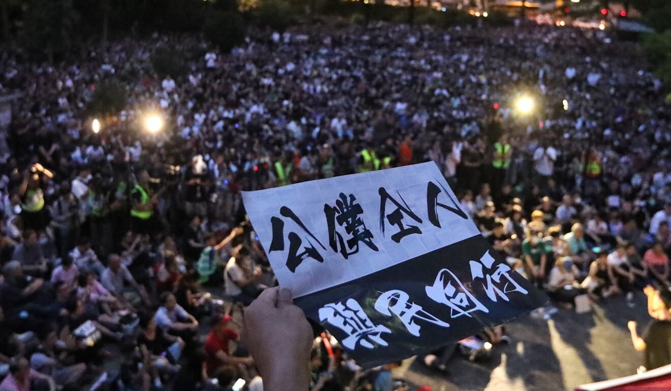 Civil servants protest last year against the government's handling of demonstrations sparked by the now-withdrawn extradition bill. Photo: Felix Wong