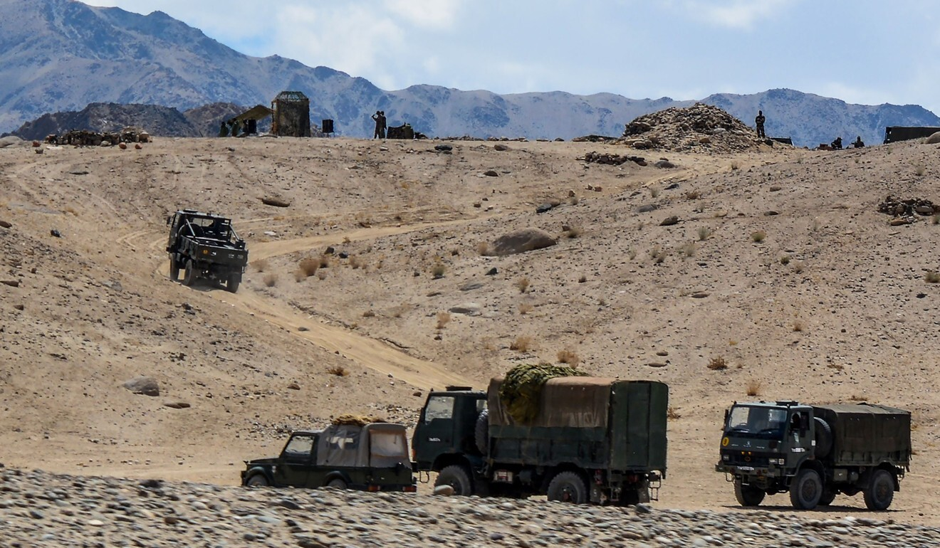 Indian soldiers take part in a military exercise this month in Ladakh. Photo: AFP