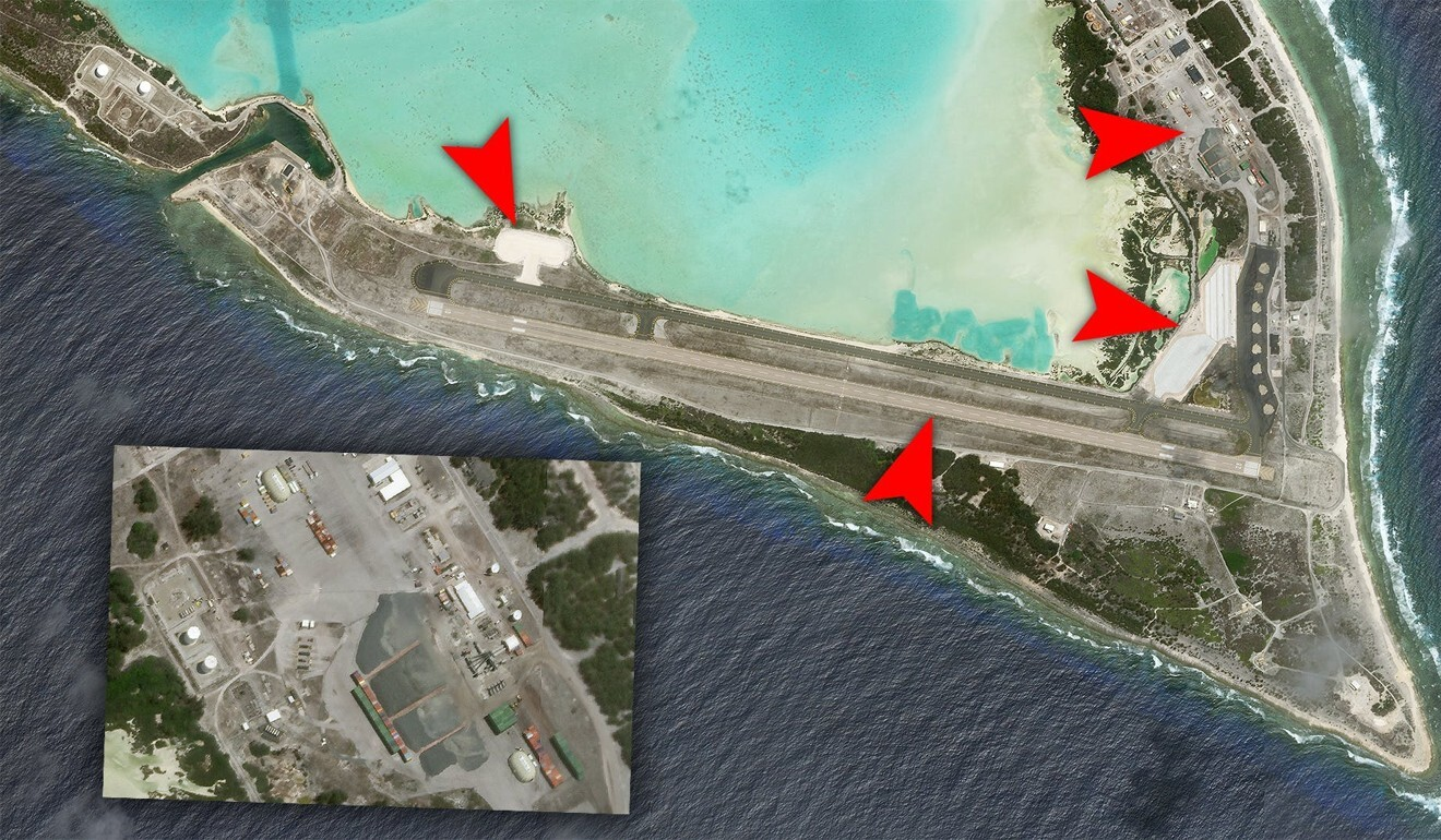 Satellite images show new facilities that have been built on the airbase. Photo: Planet Labs Inc