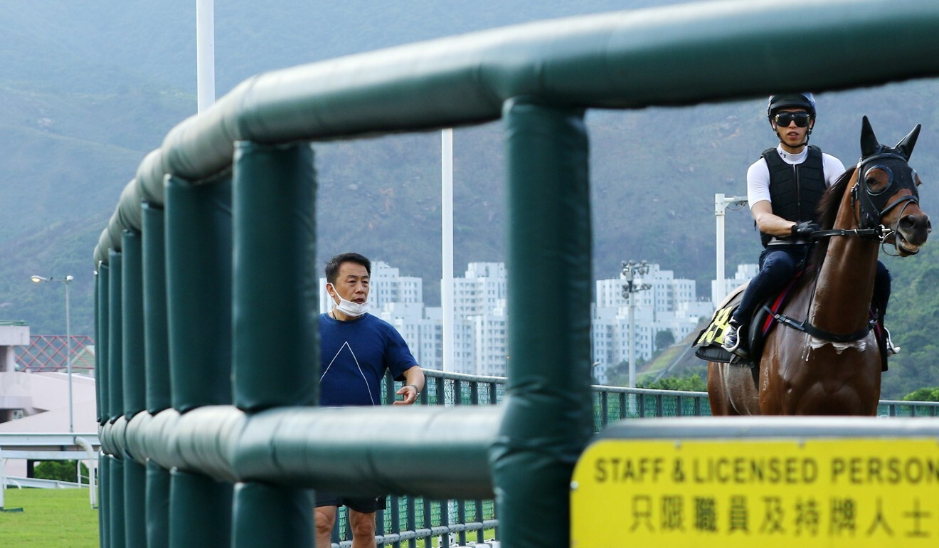 Ricky Yiu watches over his horses at Sha Tin this week.