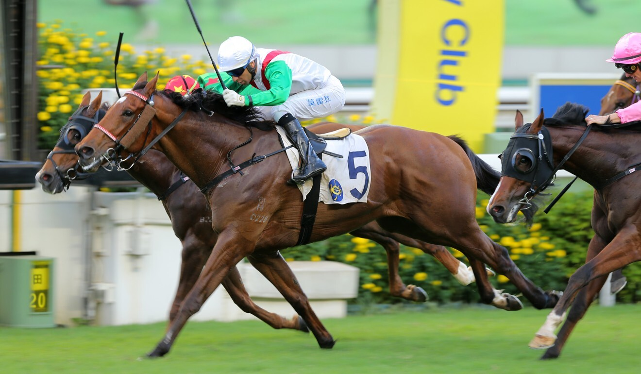 Joao Moreira boots Good Luck Friend to victory last month.