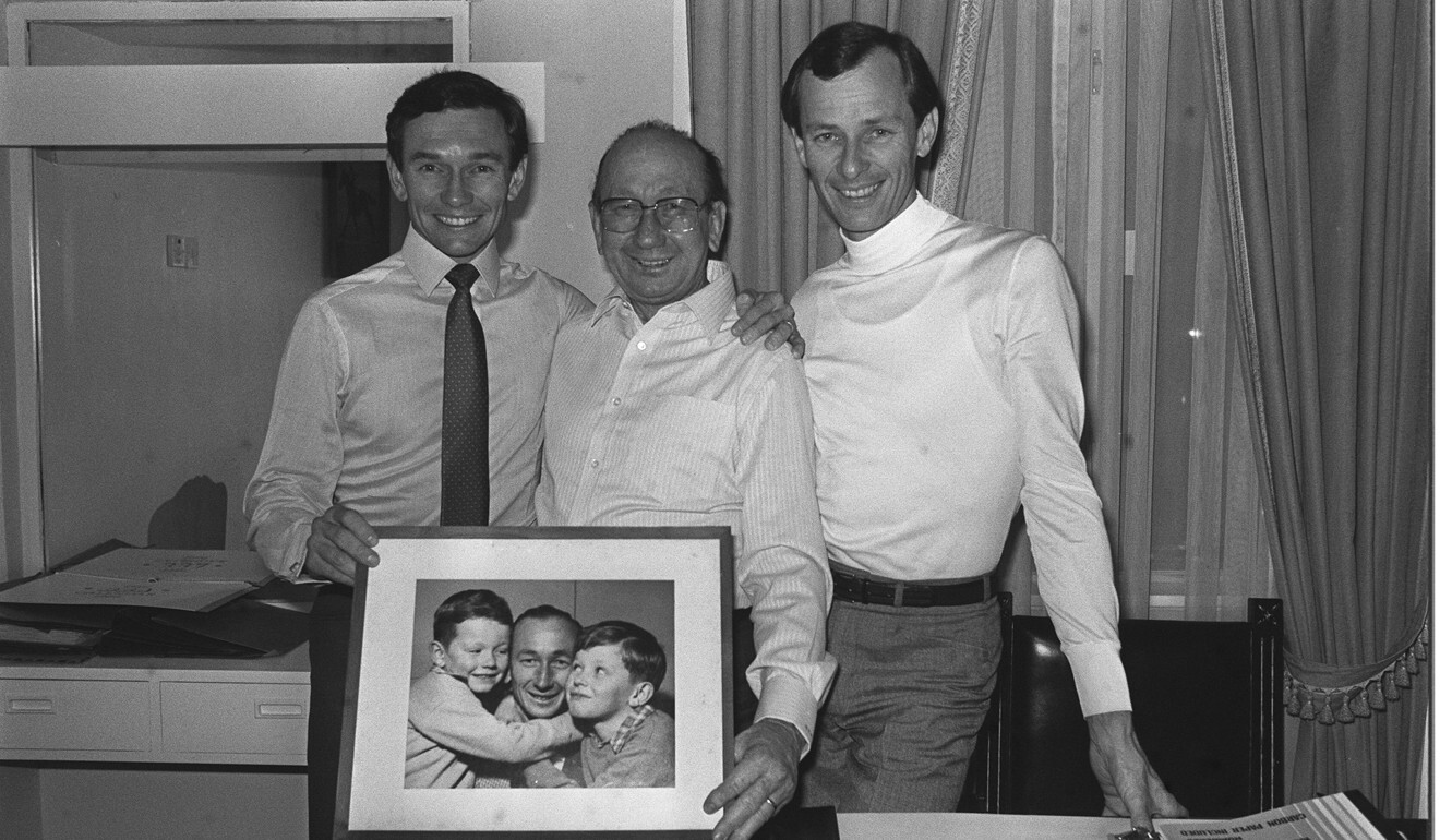 Trainer George Moore (centre) and his two sons, jockey Gary (left) and John. Photo: SCMP