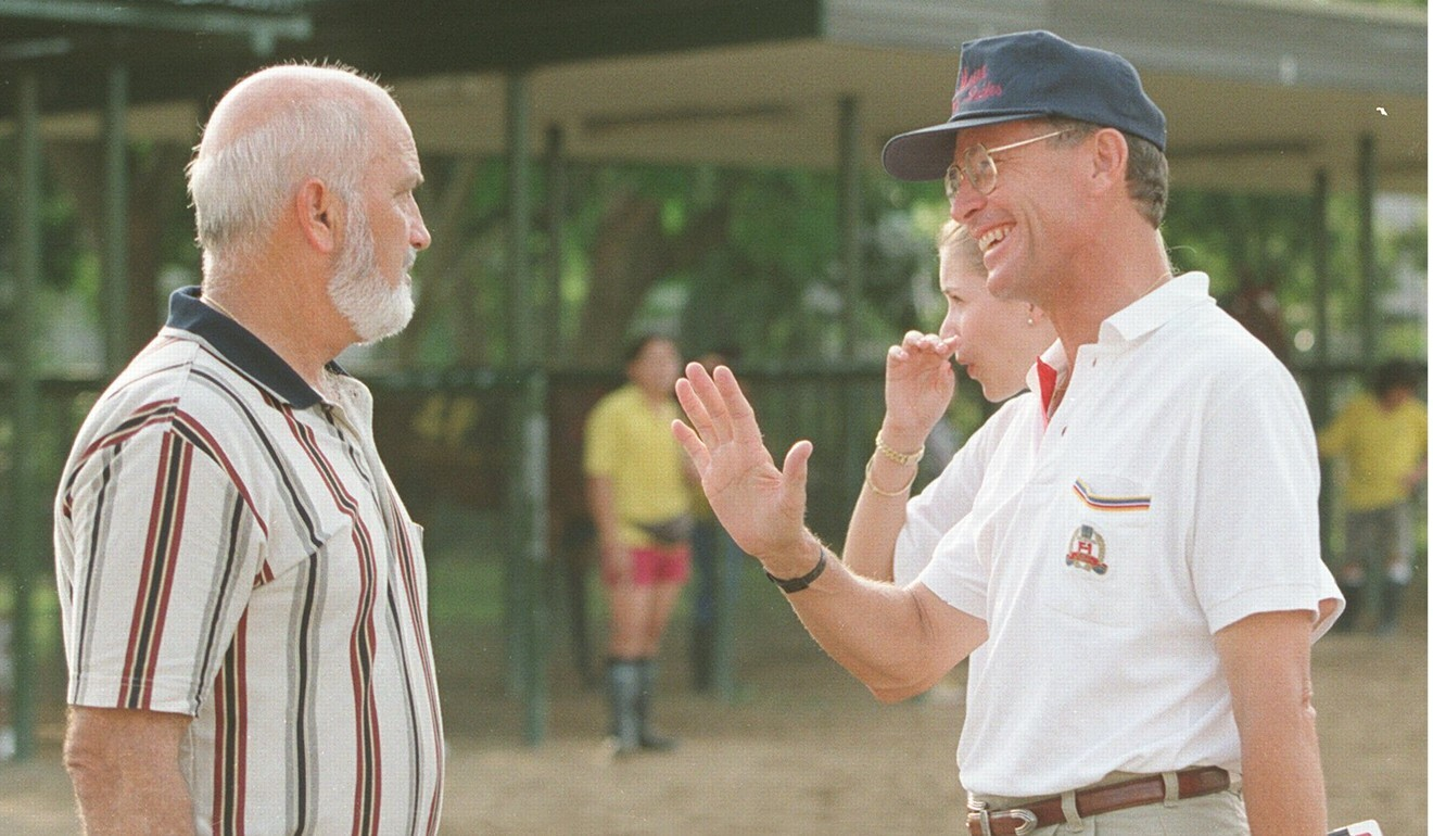Trainer Lawrie Fownes and John Moore in 1998. Photo: SCMP