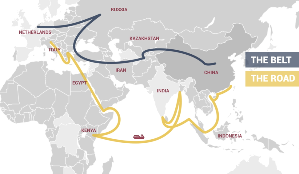 China's Belt and Road Initiative, inspired by the ancient Silk Road trading route, features overland and maritime routes across Asia, Europe and Africa and is expected to significantly influence global economic develop. Photo: Handout