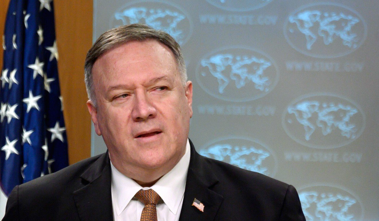US Secretary of State Mike Pompeo says Washington formally opposes many of China's claims to the South China Sea. Photo: AFP