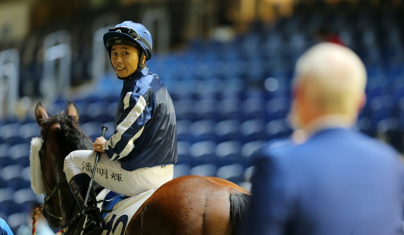 Matthew Poon after riding a winner at Happy Valley.
