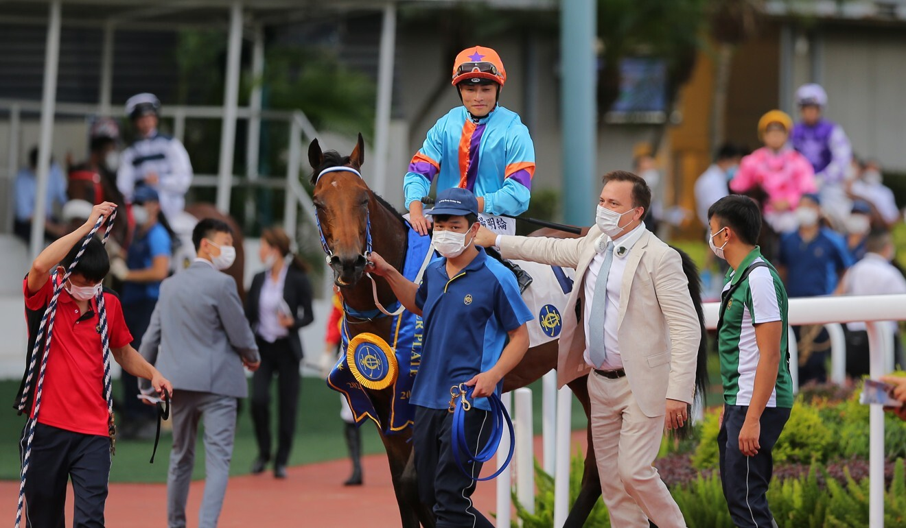 Caspar Fownes returns with Dances With Dragon after winning the Group Three Premier Plate at Sha Tin.