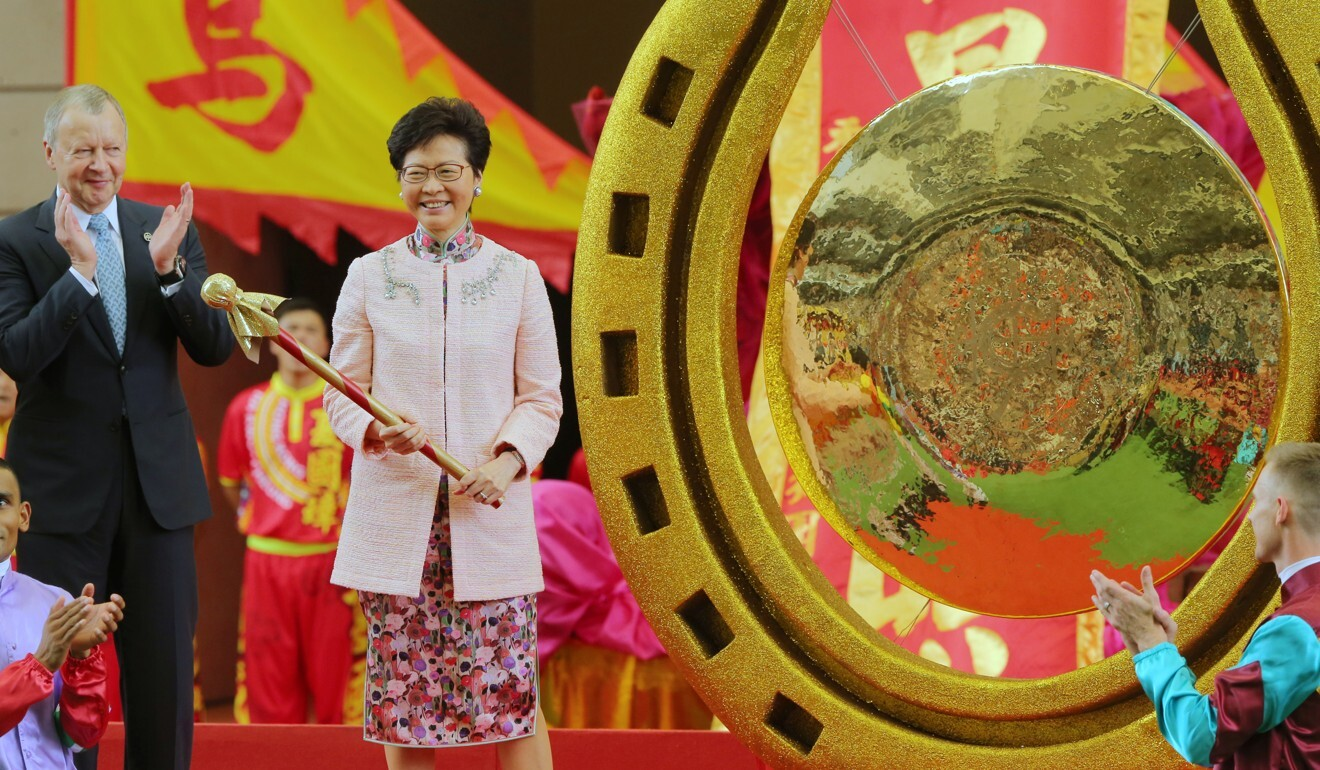 HKSAR Chief Executive Carrie Lam opens the 2018-19 racing season. Photo: Kenneth Chan