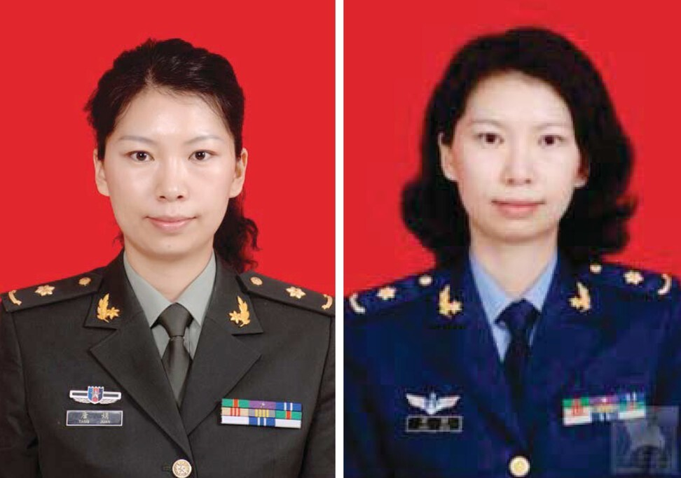 Juan Tang (pictured left and right) has been charged with visa fraud by the US. She allegedly lied about their visa status and links to the People's Liberation Army. Photo: EPA-EFE