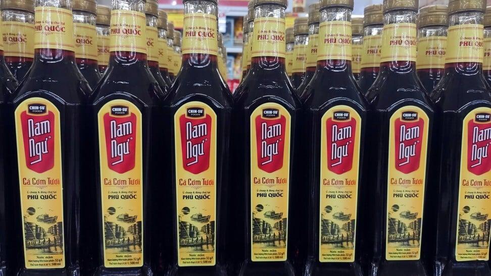 Fish sauce bottles on sale in Vietnam. Photo: Shutterstock