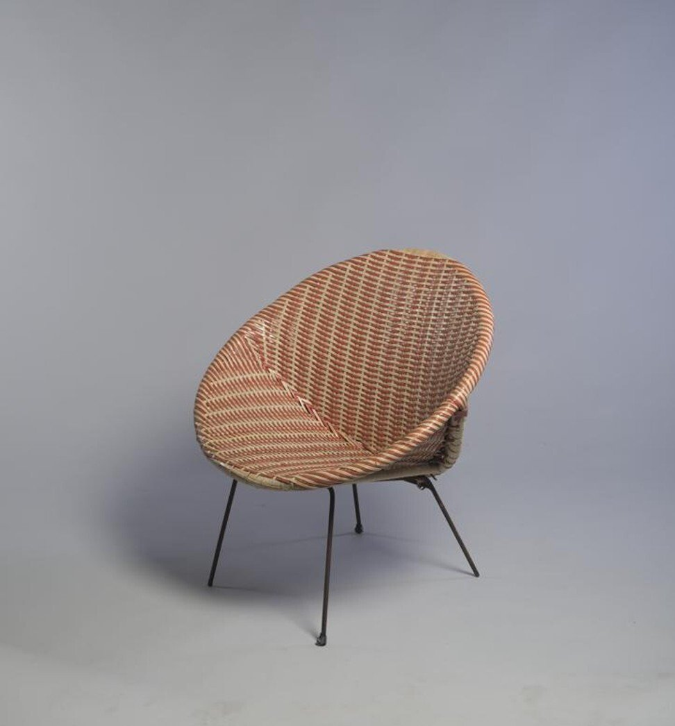 """Flying Saucer Chair"" attributed to Kowloon Rattan Ware Co., designed 1954. Photo: M+, Hong Kong"