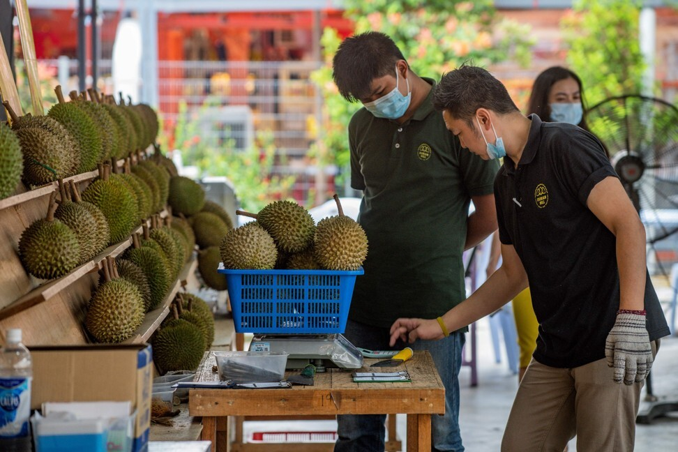 A durian stall in Kuala Lumpur. Photo: Agence France-Presse