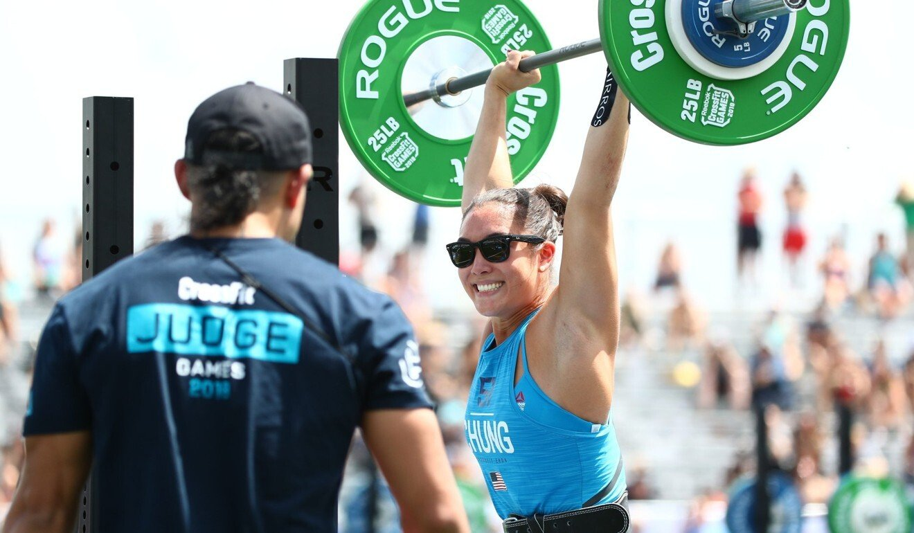 Stephanie Chung said enjoying herself is the first goal, and the leader board is second. Photo: CrossFit