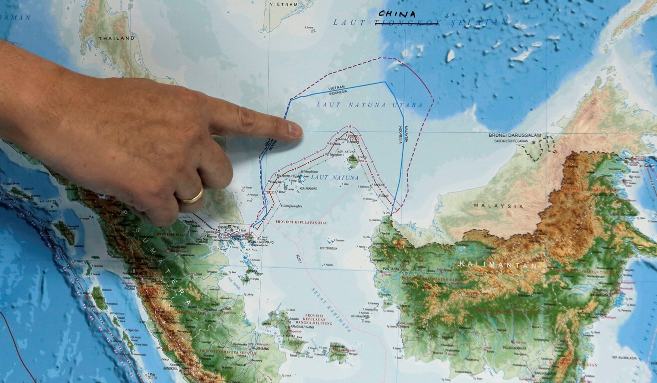 An Indonesian map showing the Natunas. Photo: Reuters