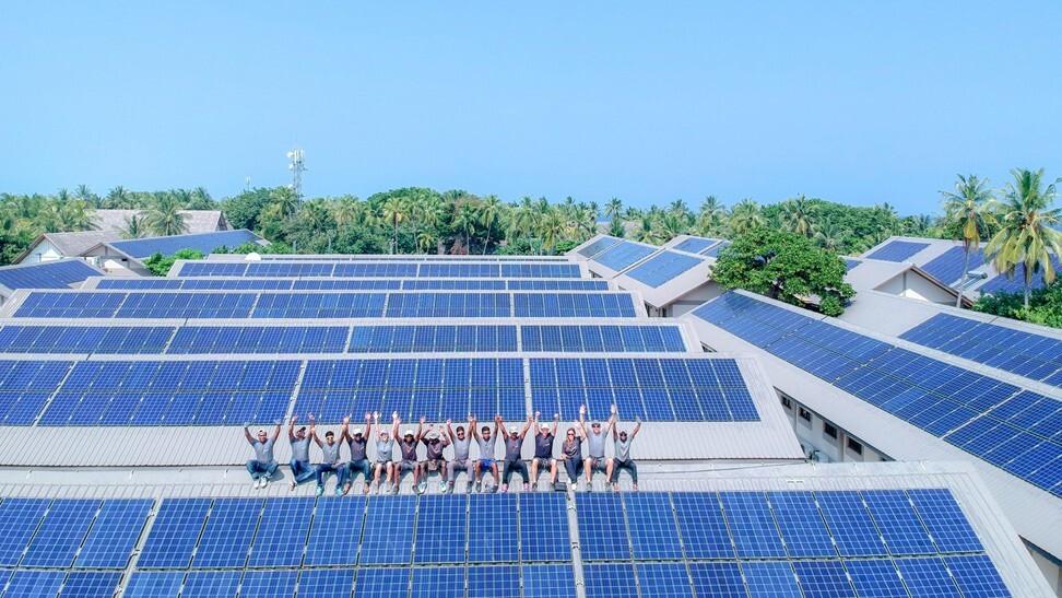 Four Seasons Landaa Giraavaru has one of the largest resort solar installations in the Maldives. Photo: Four Seasons