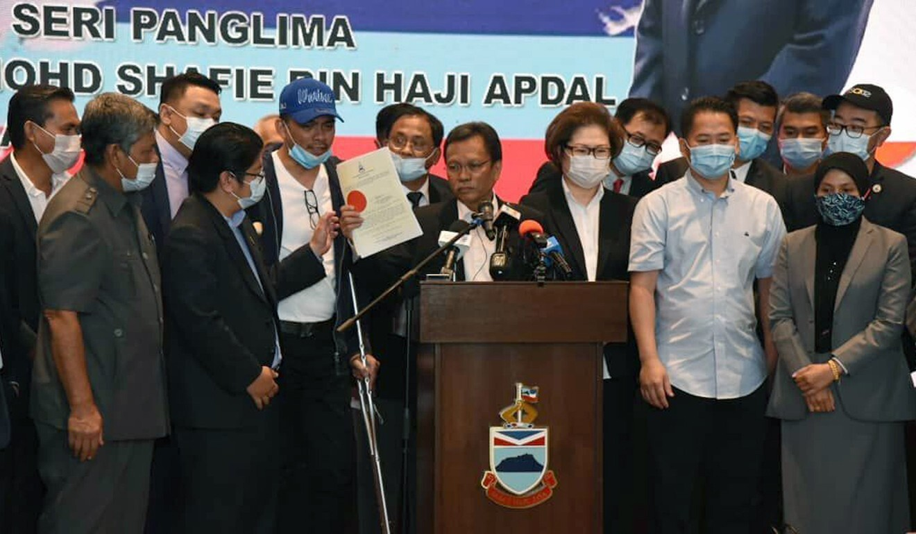 Sabah Chief Minister Shafie Apdal briefs the media in Kota Kinabalu on July 30. Photo: AP