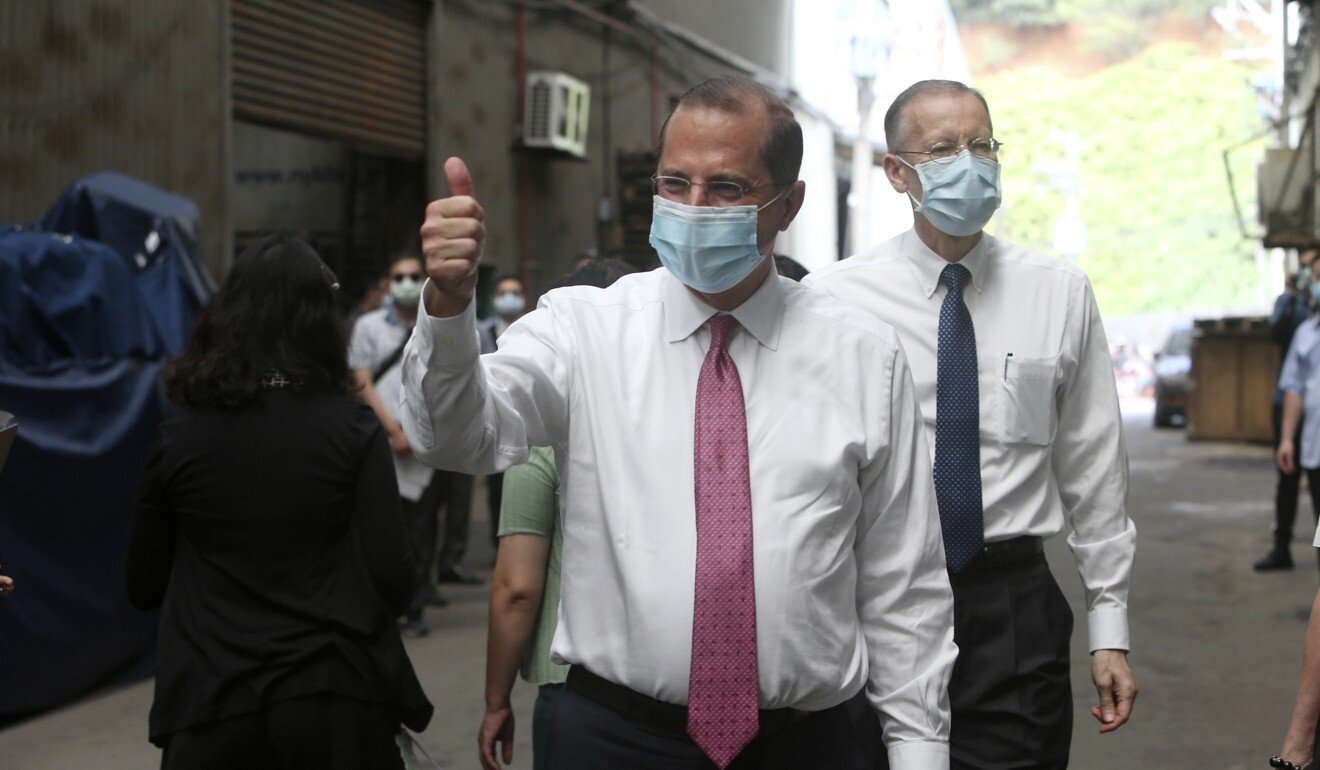 US Health and Human Services Secretary Alex Azar visited Taiwan this week. Beijing strongly objected the trip. Photo: AP