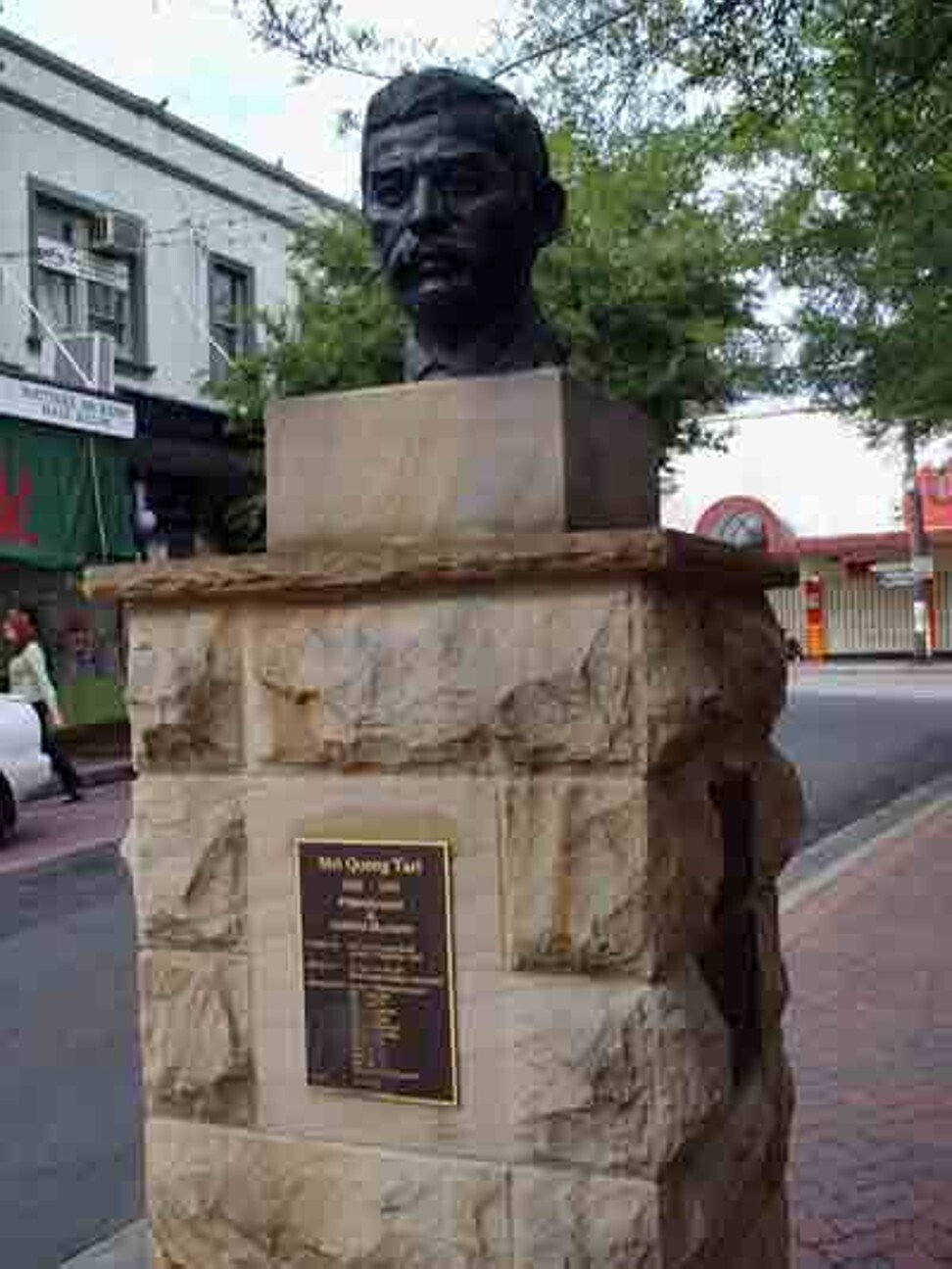 A bust of Quong Tart near Ashfield railway station in Sydney, Photo: Marc Pasquin