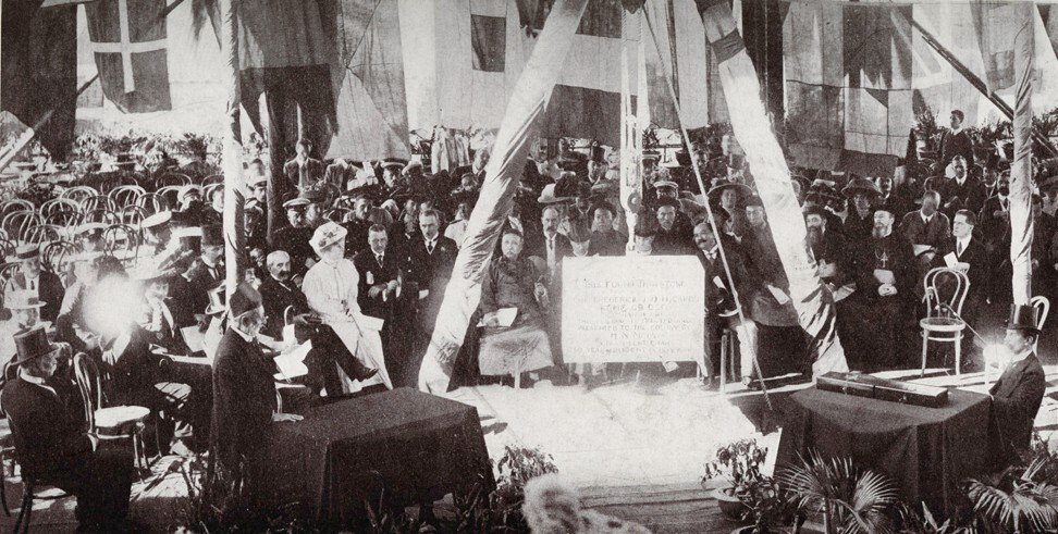 The foundation stone laying ceremony of the University of Hong Kong, on March 16, 1910. Photo: University of Hong Kong