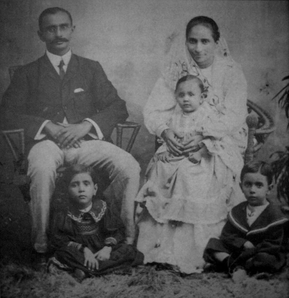 Jehangir Hormusjee Ruttonjee with his family. Photo: Handout