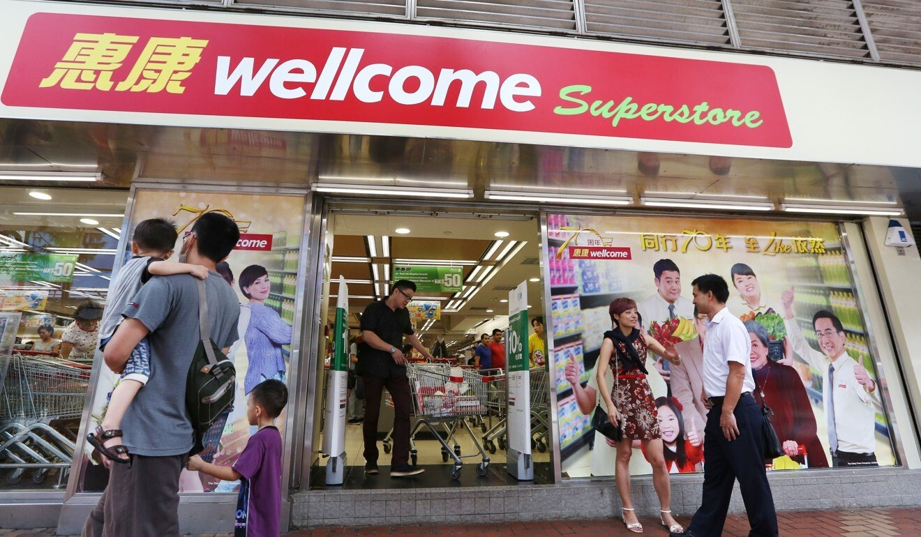 A Wellcome supermarket in Causeway Bay. Photo: Nora Tam