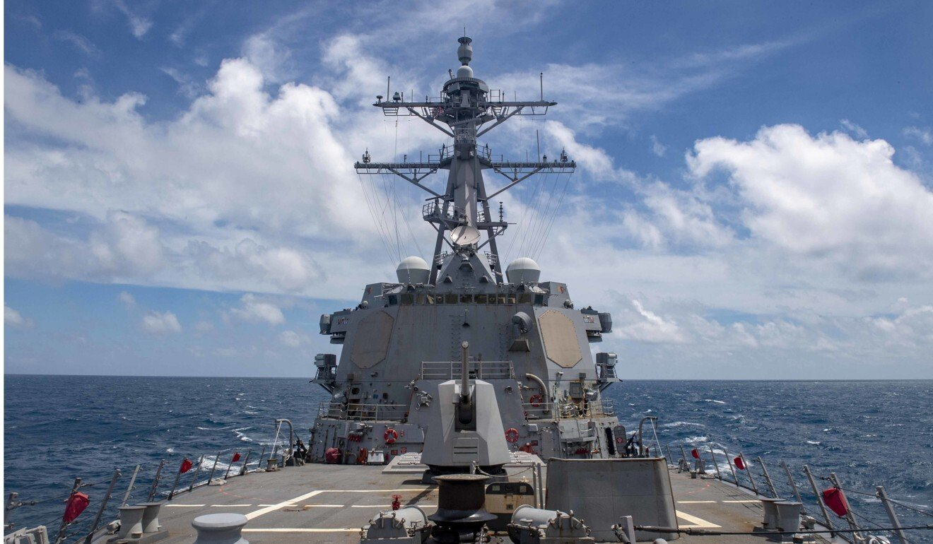 "The US Pacific Fleet says it will continue to ""fly, sail and operate anywhere international law allows"". Photo: US Navy"