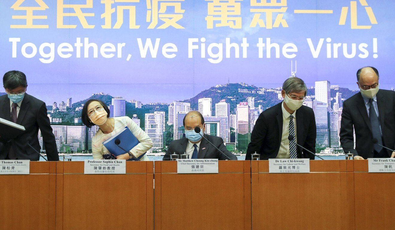 Hong Kong's ministers on Sunday issued a united online call for public support for the citywide testing. Photo: Edmond So
