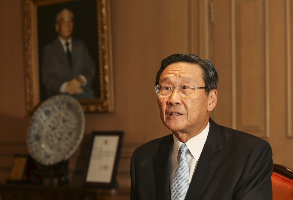 Wharf (Holdings) Limited former chairman, Peter Woo Kwong-ching had married into the prominent Pao family. Photo: SCMP