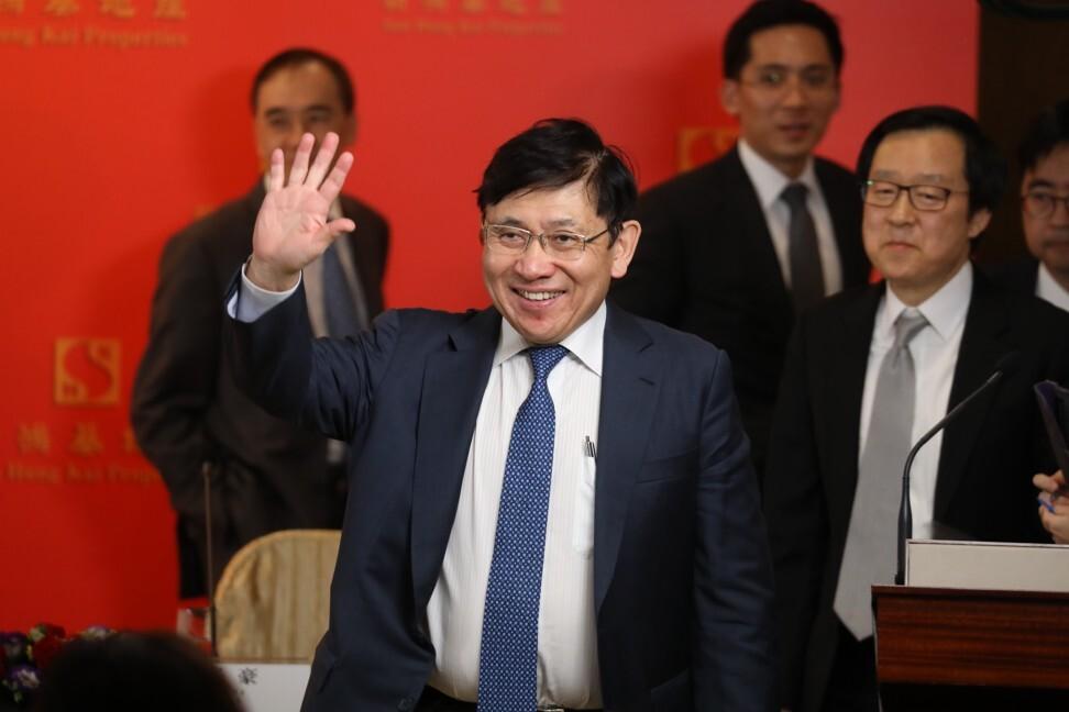 Chairman and managing director of Sun Hung Kai Properties, Raymond Kwok Ping-luen. Photo: SCMP