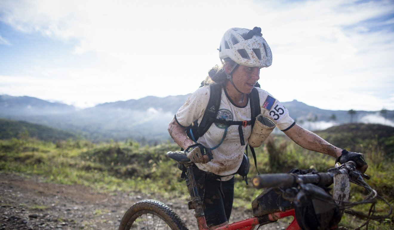 Sophie Hart makes her way through the 670km course. Photo: Christian Pondella/Amazon