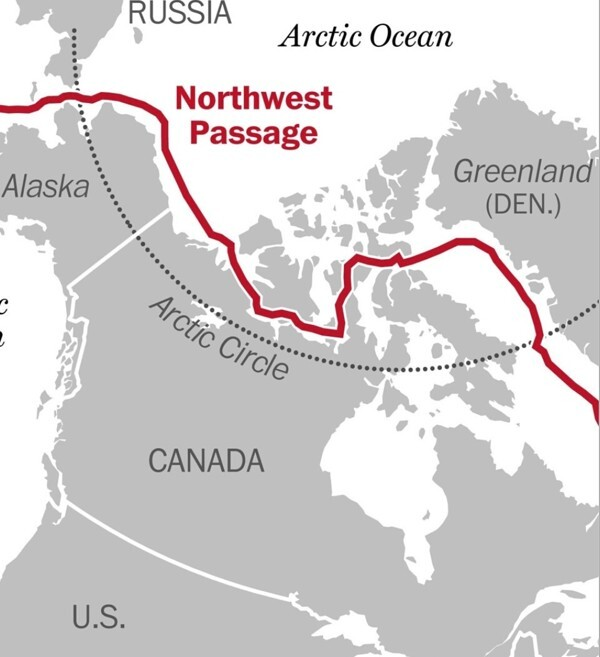 The Northwest Passage – The Arctic route that links the Atlantic and the Pacific. Photo: NWP2021