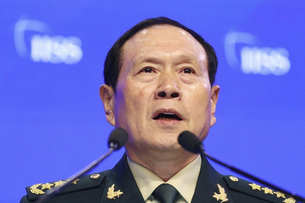 Chinese Defence Minister Wei Fenghe. Photo: AP