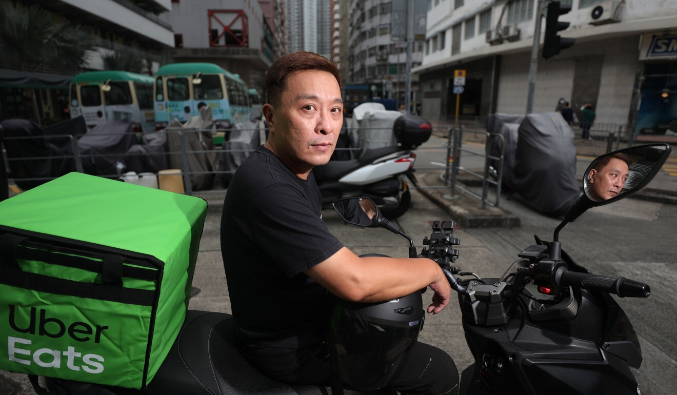 Sammy Chan quit his job as a magazine art director and now works for Uber Eats. Photo: Xiaomei Chen