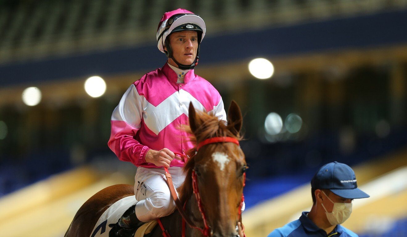 Zac Purton at Happy Valley.