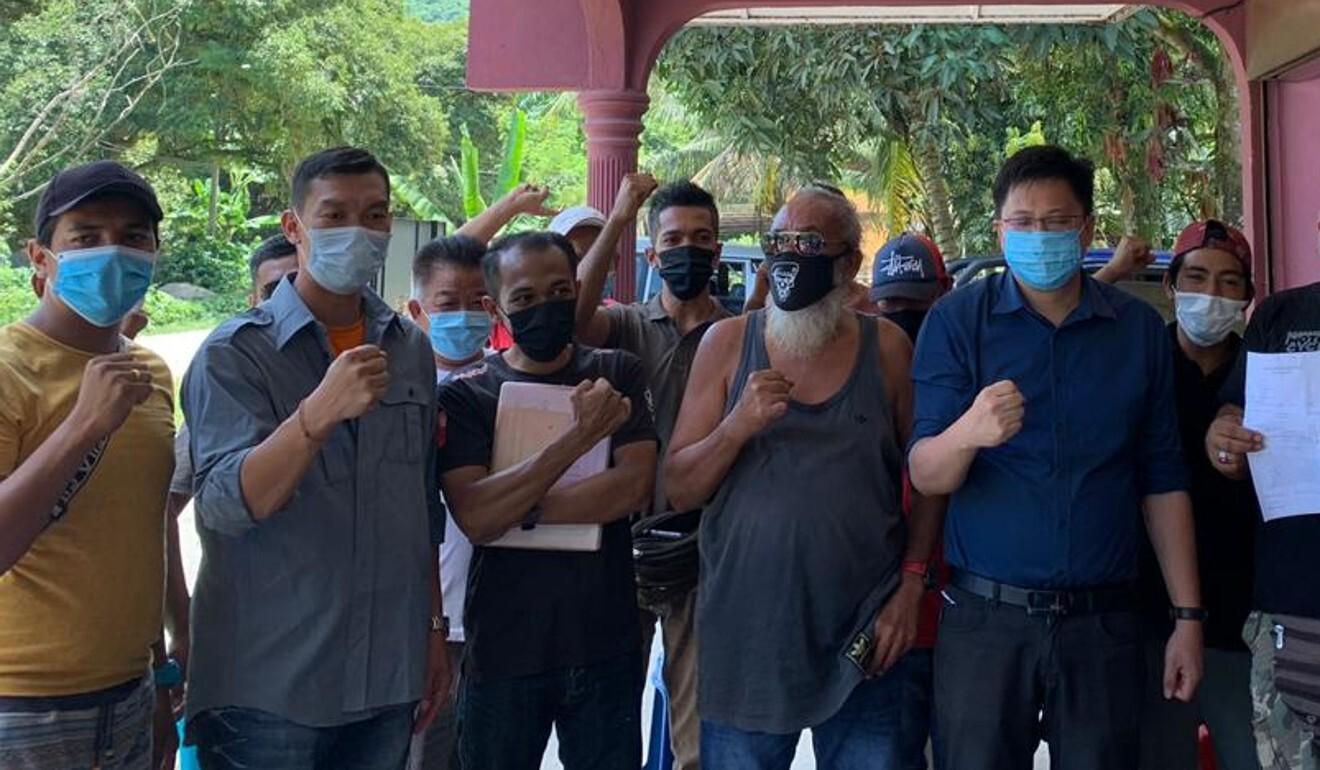 The Save Musang King Alliance (Samka) and the durian farmers from Raub, Pahang. Photo: Handout