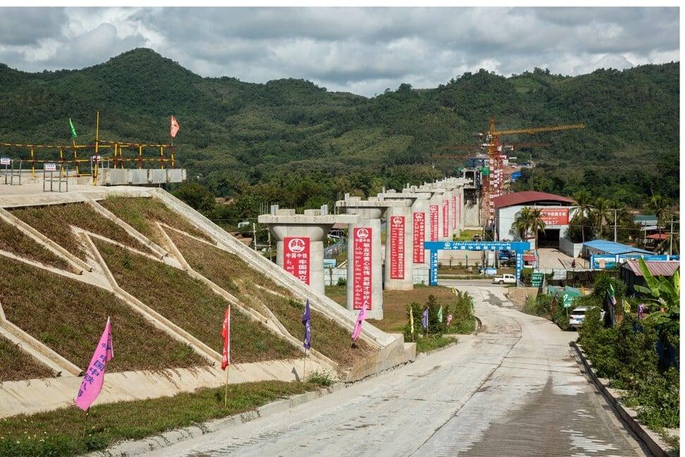 The Luang Prabang railway bridge, a section of the China-Laos Railway. Photo: Bloomberg