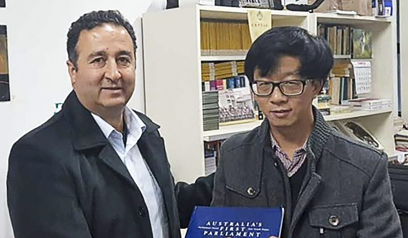 Shaoquett Moselmane (left) and Chen Hong in 2016. Photo: Handout