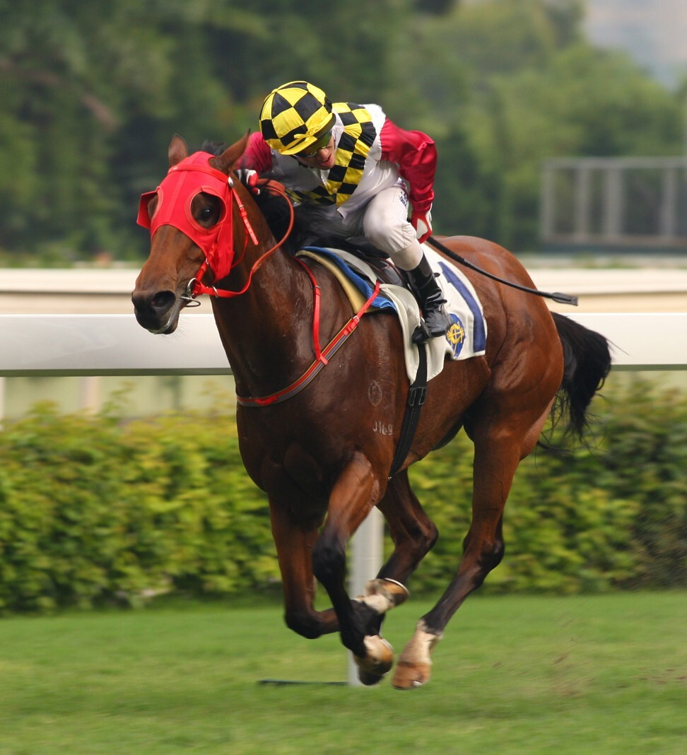 Howard Cheng boots home one of his 436 Hong Kong winners.