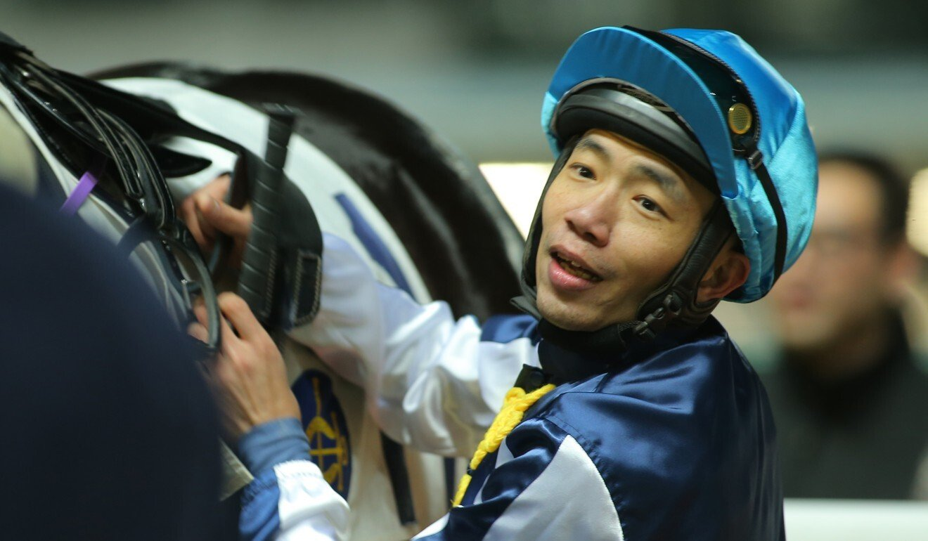 Howard Cheng after a winner at Happy Valley in 2016.