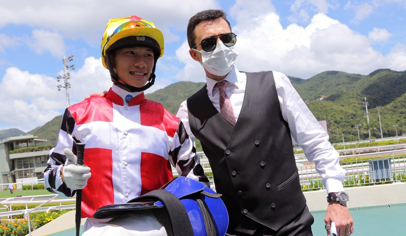 Jerry Chau with Douglas Whyte after winning together last season.