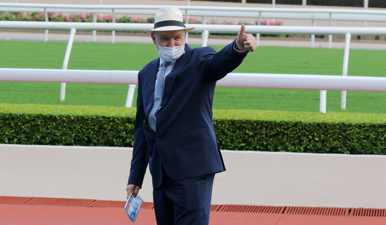 David Hayes after Moneymore's win at Sha Tin on Sunday.