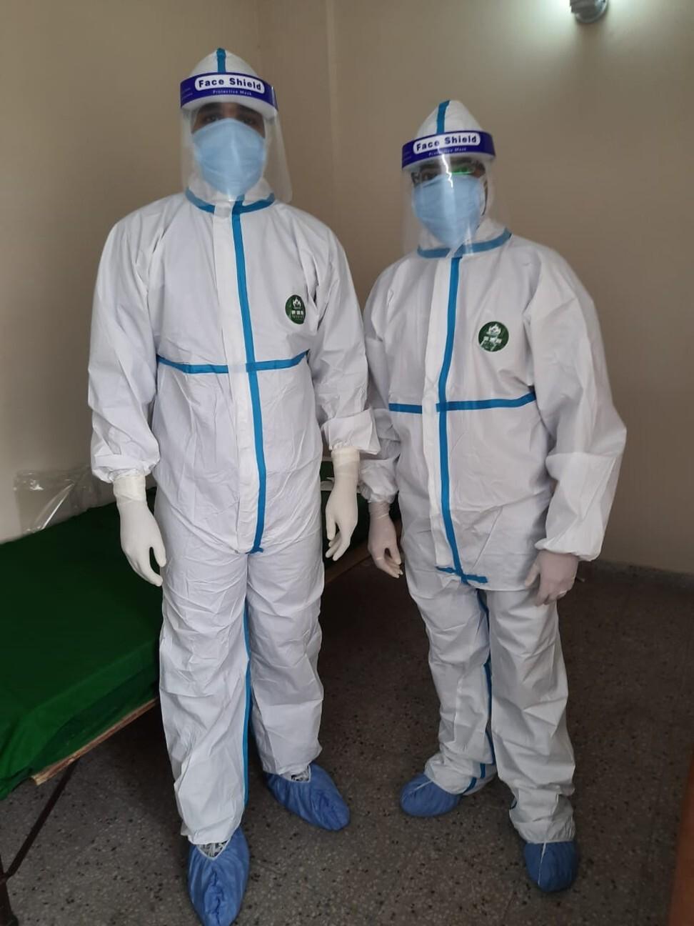 Dr Pratik Mammode (right) at a government facility in Delhi. Photo: Pratik Mammode