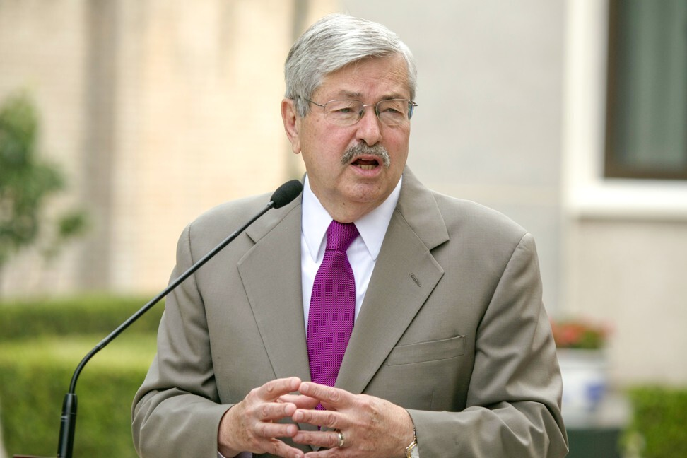 US ambassador to China Terry Branstad is leaving his post in October. Photo: AP