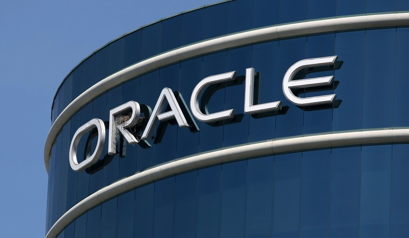 In this file photo the Oracle logo is displayed on the company's world headquarters in Redwood Shores, California. Photo: AFP