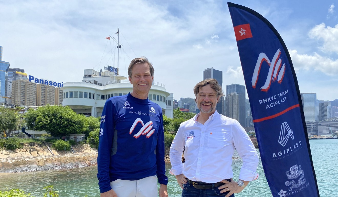 Rune Jacobsen and Denis Martinet, the people behind the RHKYC Team Agiplast Youth America's Cup campaign. Photo: Handout