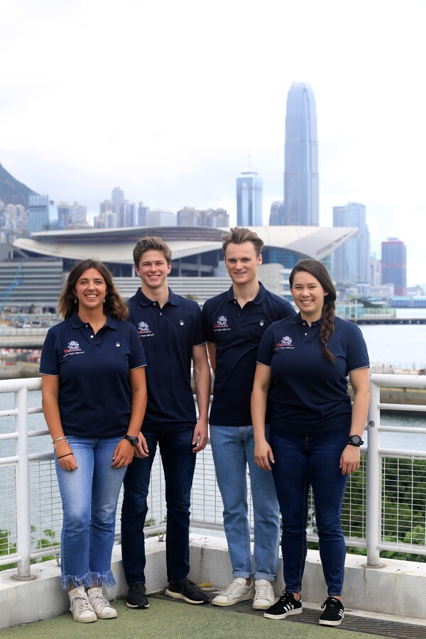 (From left): Maria Cantero, Nicolai Jacobsen, Calum Gregor and Jackie Truhol, the RHKYC Team Agiplast for the Youth America's Cup. Photo: Royal Hong Kong Yacht Club