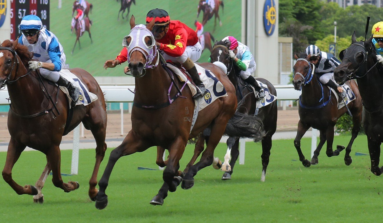 Hang's Decision salutes at Sha Tin last season.