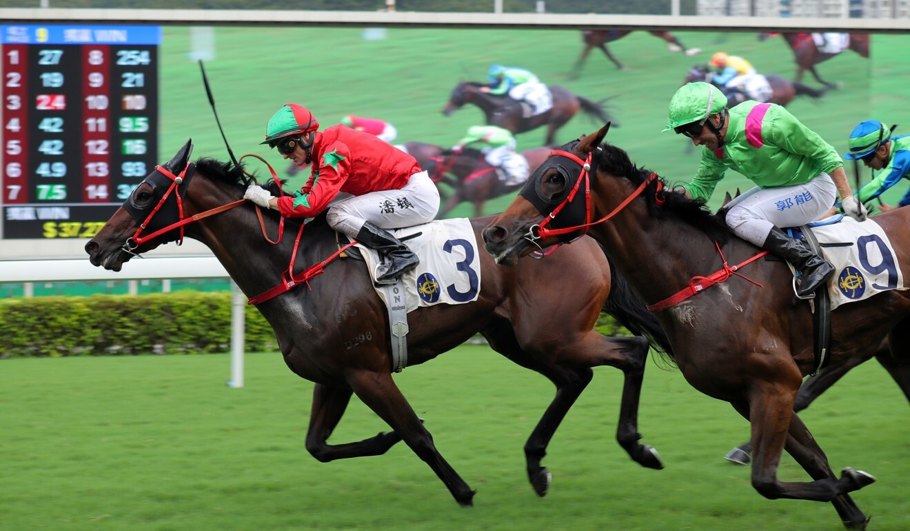 Chevalier Prince salutes at Sha Tin in June.