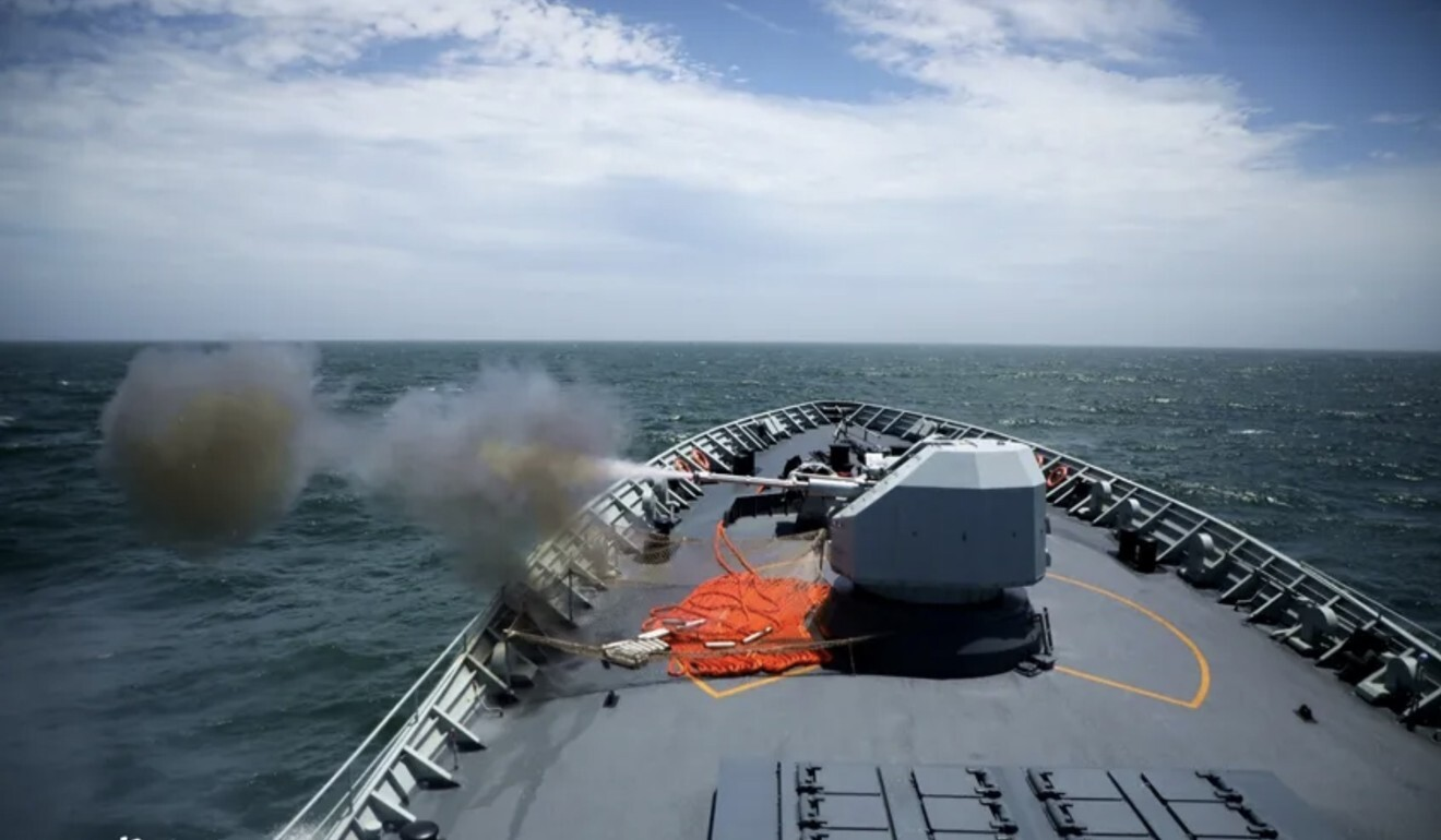 The Chinese navy conducts a live-fire drill in the East China Sea. Photo: Sourced online