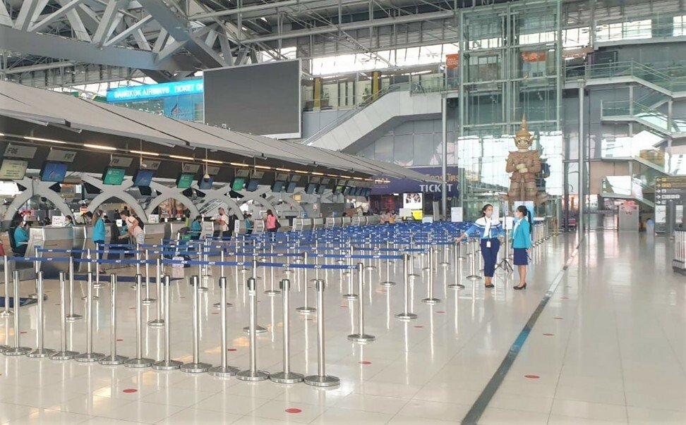 Bangkok's airport has been devoid of passengers for months. Photo: Red Door News/Christian and Beatrice Meier